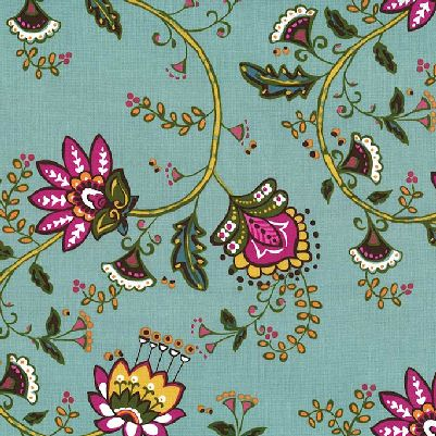 MM- Dilly Dahlia Turquoise Floral