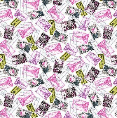 La Parisienne- Stamps - Magenta