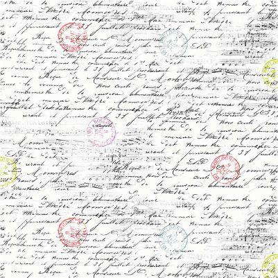 Michael Miller La Parisienne Script - White