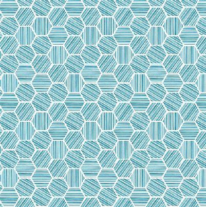 Michael Miller Queen Bee Hexagons - Blue