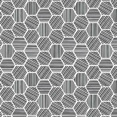 Michael Miller Queen Bee Hexagons - Charcoal
