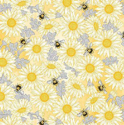 Michael Miller Queen Bee Bees and Sunflowers - Yellow