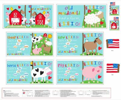 MacDonald's Farm Book Panel