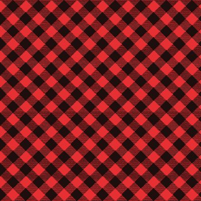 Snow Place Like Home Red Buffalo Plaid by Studio E