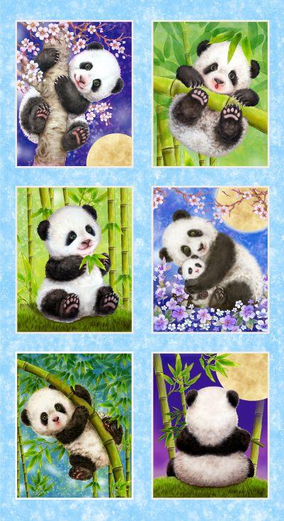 #141 PANDA SANCTUARY PANDA BLOCK PANEL BLUE 5275P 11