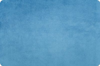 C390 Blue Bell Solid Cuddle 3 Extra Wide for Shannon Fabrics. 100% Polyester 90 Wide