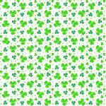 Pot of Gold - Clovers on white