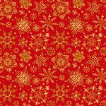 Christmas Joy Red with Gold Snowflake