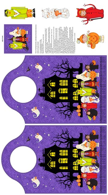 Happy Halloween Treat Bag Panel 21195-84