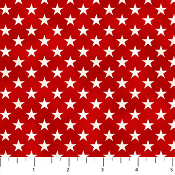 Northcott Liberty Ride Red W/White Stars 21313-24