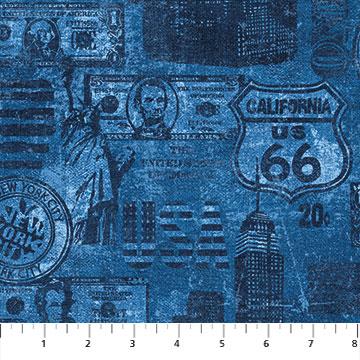 American vintage Navy blue