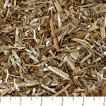 SPECIALTY FABRICS:  Tan Wood Chip Shavings :  Naturescapes by Deborah Edwards for Northcott