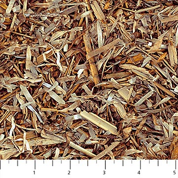 SPECIALTY FABRICS:  Brown Wood Chip Shavings :  Naturescapes by Deborah Edwards for Northcott