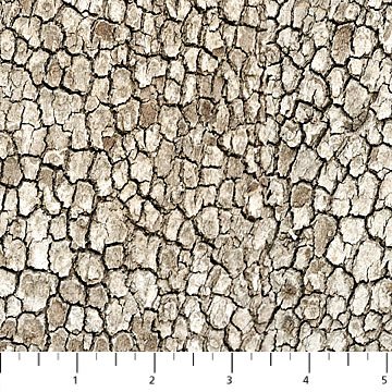 SPECIALTY FABRICS:  Scaly Neutral Bark :  Naturescapes by Deborah Edwards for Northcott