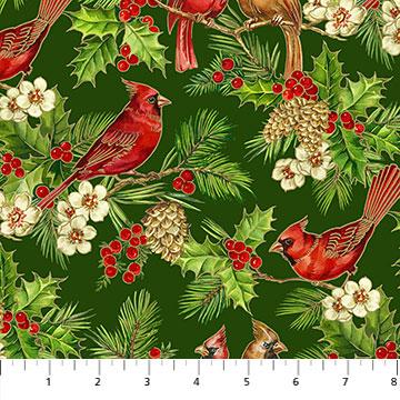 Tis the Season -Cardinals, Holly, & Cedar by Deborah Edwards