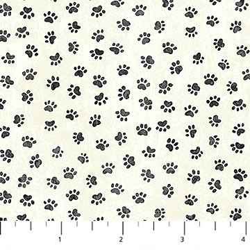 Paw Prints/Cream: You had me at Woof