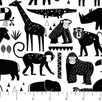 Safari Swank Black Animal Silhouette