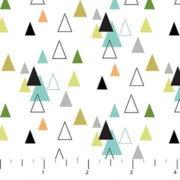 Safari Swank Triangles on White