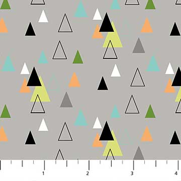 Safari Swank Triangles on Gray
