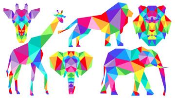 Panel 459: Rainbow Zoo White - Zoometrix