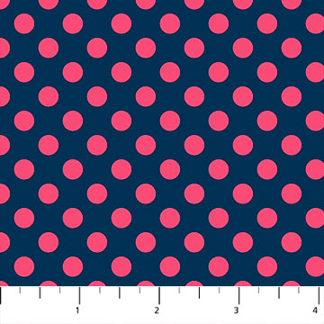 Dots Fabric - Navy Call Me! Collection by Northcott