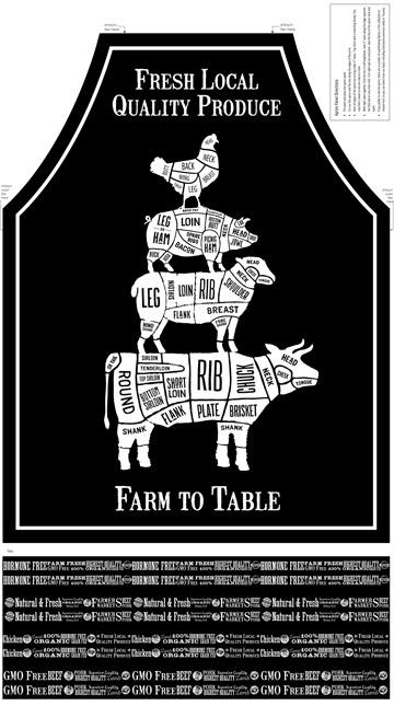 Farm To Table Apron Panel 22515-99