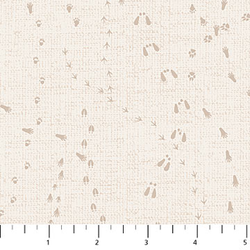 Woodland Pitter Patter Beige Paw Print