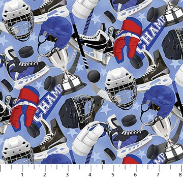 All Star Hockey - Single Colorway 22581-44 by Northcott