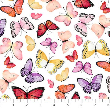 April Showers White Butterflies