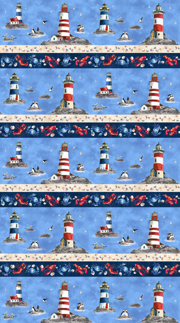 Atlantic Shore Border Stripe Northcott 22618-44