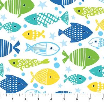 N-22724-10 Go Fish Multi Fish on White