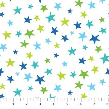 N-22725-10 Go Fish Multi Stars on White