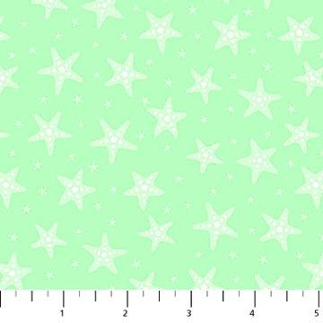 MERMAID KITTIES LT.GREEN Stars