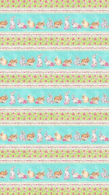 Bunny Love Border Stripe