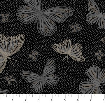 DOLCE VITA - BLACK  BUTTERFLIES