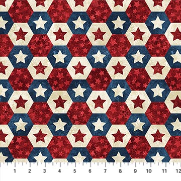 Americana Star Hexies - Stonehenge Stars and Stripes VI
