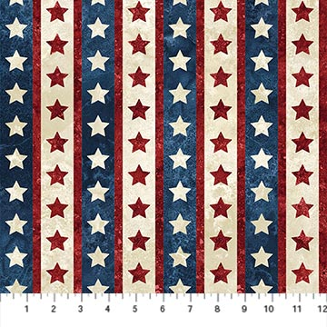 Northcott patriotic stripe 22782-49