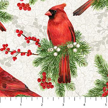 Cardinal Woods - Cream/Cardinals Flannel
