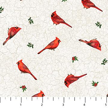 Cardinal Woods- Cream w/Sm Cardinals