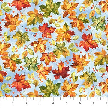 Country Pastime - Leaves/Blue