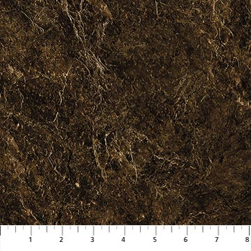 Northcott Country Pastime 22852-36 Dark Brown Rock Texture