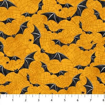 Raven's Claw Orange with Black Bats 22864-54