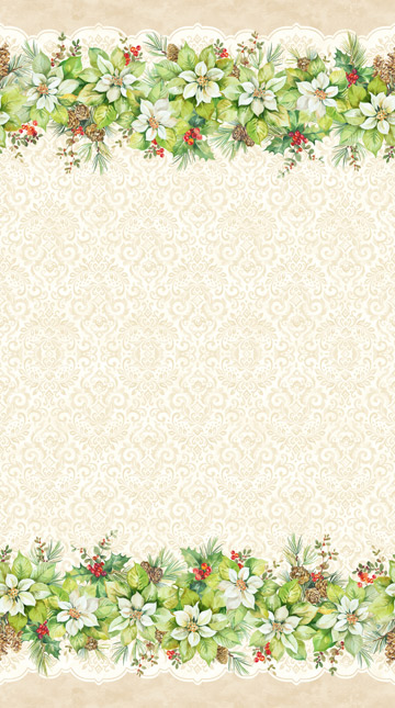 Northcott 22880-11 Deck the Halls Cream Stripe