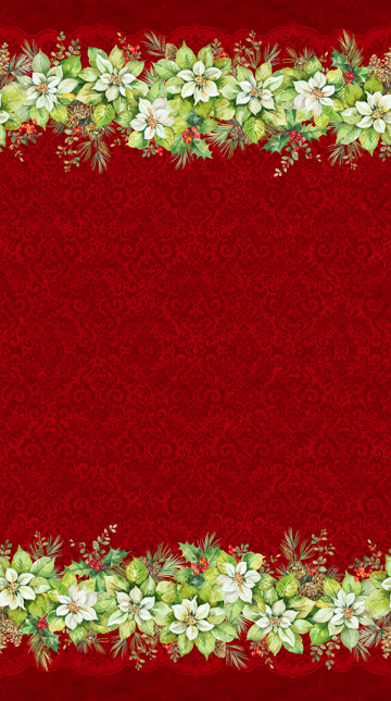 Northcott 22880-24 Deck the Halls Red Stripe