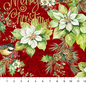 Deck the Halls Northcott 22881-24 red
