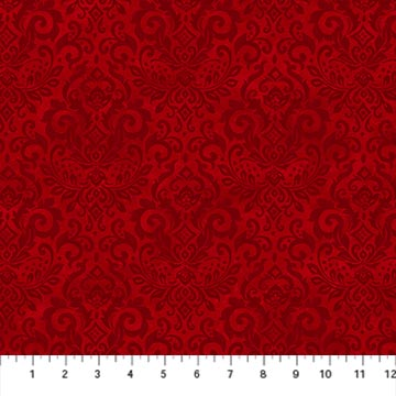 Northcott 22885-24 Deck the Halls Collection Red Tonal