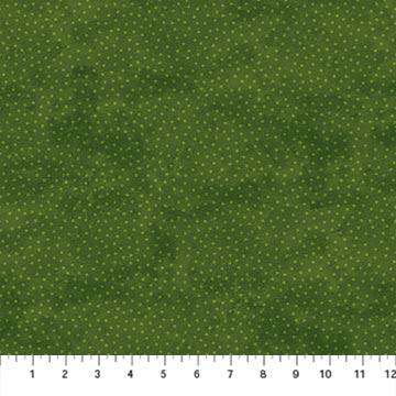 Northcott 22886-74 Deck the Halls Collection Green Tonal Dots