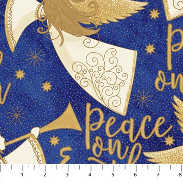 ANGELS ABOVE - ROYAL Peace on Earth by Deborah Edwards for Northcott