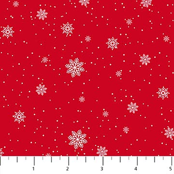 Double Decker Christmas - Snowflake Red