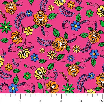 Flowers on Pink - Nine Lives